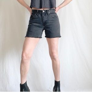 Vintage 90s Wrangler Grayish Black Cut Off Shorts